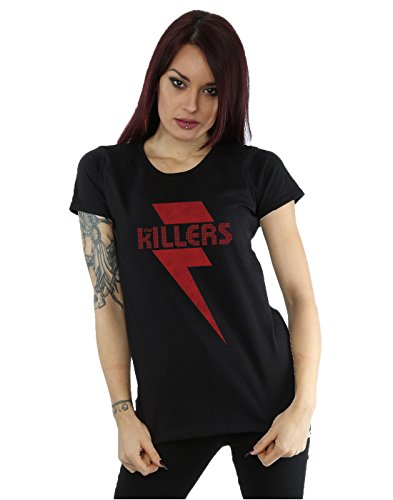 The Killers Women's Red Bolt T-Shirt Small Black