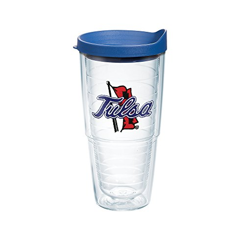 Tervis Tulsa University Emblem Individual Tumbler with Blue Lid, 24 oz, Clear