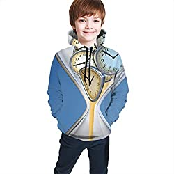 Teen Hooded Sweatshirts,Hourglass Time Clocks with Sand Decorations for Home A Vintage Design S