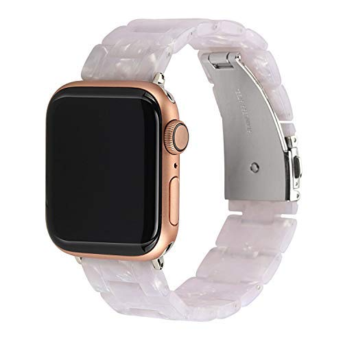 MAIRUI Compatible with Apple Watch Band 40mm 38mm, Resin Bracelet Lightweight Replacement for iWatch Series 4/3/2/1,Nike+/Sport/Edition (White - Resin Marble