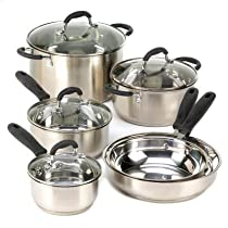 Home Kitchen Cookware Set Restaurant Best Induction Specialty Cast Iron Healthy Cookware Stainless Steel Skillet Pot Sauce Pan W/ Lid Aluminum Craft