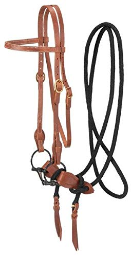 King Series Harness Leather Training Bridle