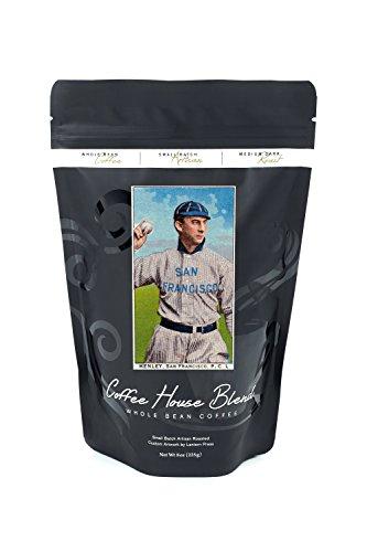 League Henley (San Francisco Pacific Coast League - Henley - Baseball Card (8oz Whole Bean Small Batch Artisan Coffee - Bold & Strong Medium Dark Roast w/ Artwork))