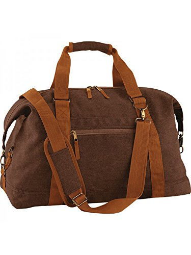 BagBase Borsa da week-end, borsone portatutto in tela, in stile vintage, borsa da viaggio, bagaglio per viaggi di 2 giorni