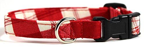 buffalo-plaid-red-classic-gingham-designer-dog-collar-adjustable-handmade-fabric-collars-xs