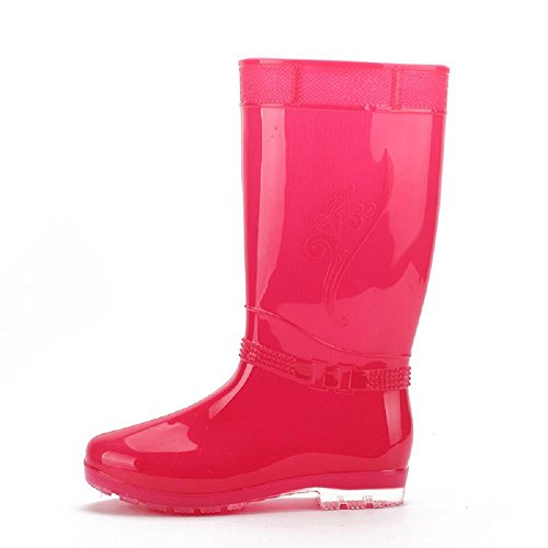 di pioggia da estate Pink primavera moda le donne stivali wIR5dx1I