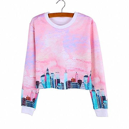 Novelty Modern City print girls cropped sweatshirts casual women clothing Autumn Harajuku style tracksuit wholesale XYWY006 S - Seahawks Cheerleader Costumes