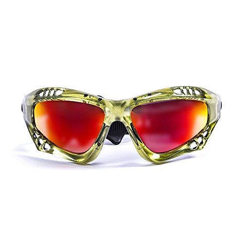 Ocean Sunglasses Australia - lunettes de soleil polarisées - Monture : Vert Transparent - Verres : Revo Jaune (11701.5) 0TRip