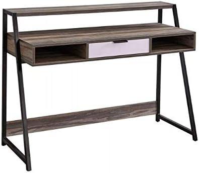 Target Marketing Systems Sahana Mid Century Modern 2 Compartments Home Office Desk