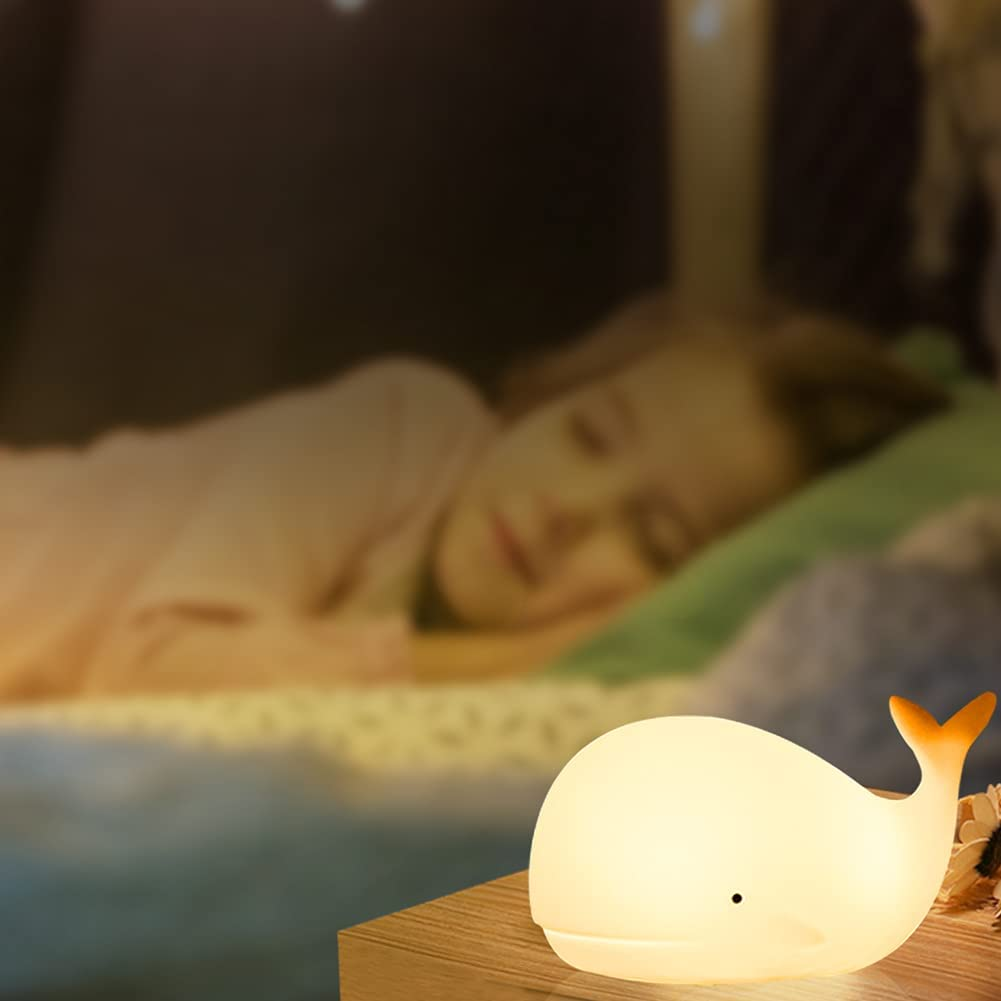 Night Light for Kids, Whale Lights for Room Decor, Nightlight for Baby Toddler Teens Girls Boys Children,Cute Anime Room Decor for Kids Bedroom, Birthday Gifts for Nursery, Silicone Animal Night Lamp