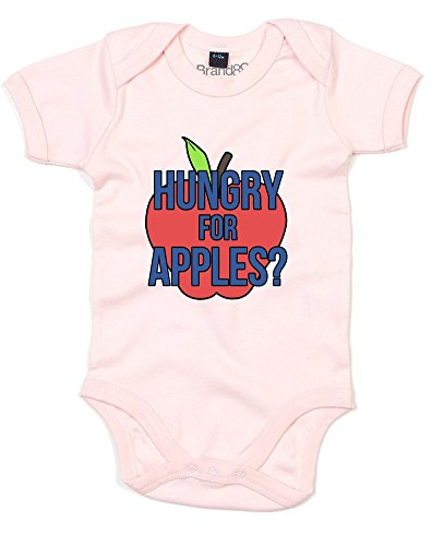 Hungry for Apples?, Baby Grow - Powder Pink 3-6 Months