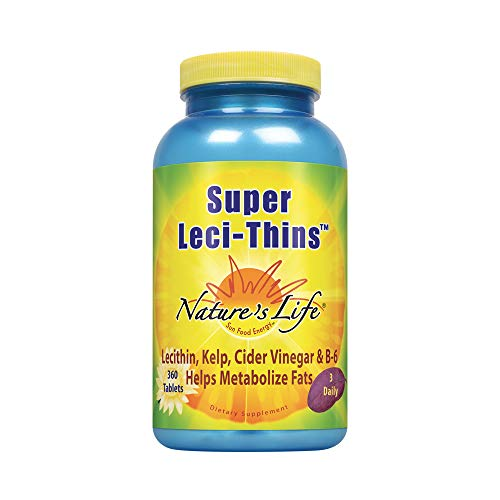 (Nature's Life Leci-Thins | Features Lecithin, Kelp, Apple Cider Vinegar & Vitamin B-6 | 360 Vegetarian Tablets)