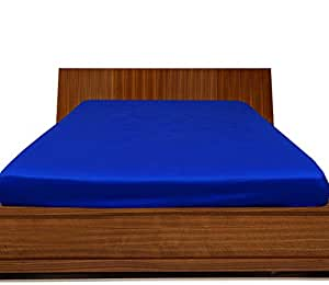 Brightlinen Royal Blue Single (90 X 190 Cm) Fitted Sheet Solid(pocket Size: 42 Cm) 1pcs