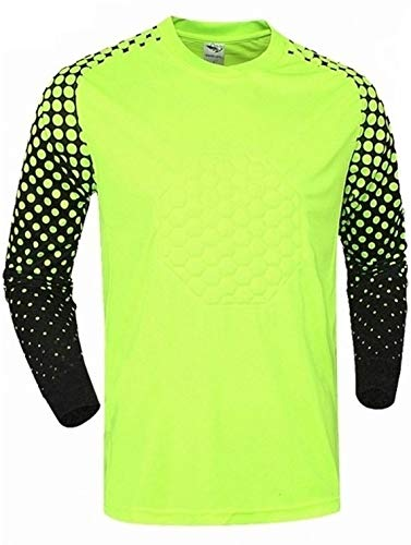 Soccer Goalie Shirt Lightweight Fabric Padded Chest and Elbows (XX Large) Yellow