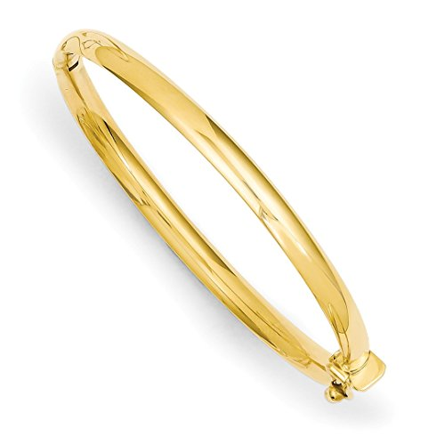 ICE CARATS 14k Yellow Gold 3.75mm Hinged Safety Clasp Baby Bangle Bracelet Cuff Expandable Stackable Fine Jewelry Ideal Mothers Day Gifts For Mom Women Gift Set From Heart 14k Baby Jewelry Set