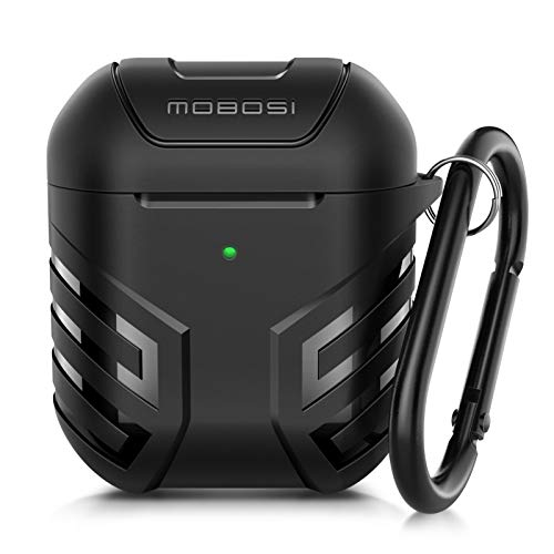 MOBOSI Military Series Airpods Case Cover Designed for Airpods 2 & 1, Full-Body Protective Airpod Case Skin with Keychain for AirPods Wireless Charging Case
