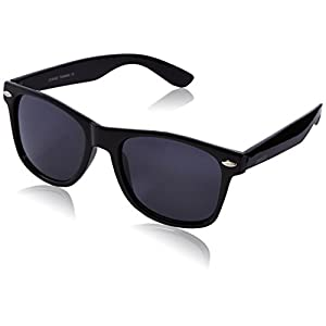 zeroUV ZV-8452n Polarized Wayfarer Sunglasses, Black, 54 mm