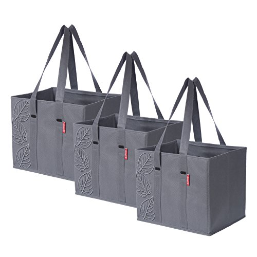 3 Piece Large Collapsible Shopping Box Set- Planet E by Eco-Stream Charcoal (Shopping Totes)