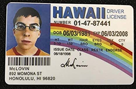 Id Scientific amp; Joke Movie Industrial Fake Superbad From Amazon com Mclovin Dw