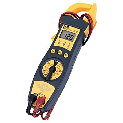 Ideal Industries 61-704 True RMS Clamp-Meter, 200A AC, Conductors to 33mm, Voltage, Capacitance, Frequency, and Resistance Measurement