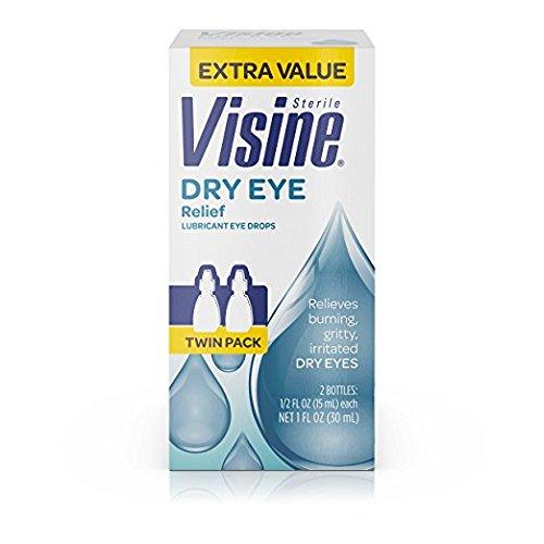Visine Tears Dry Eye Relief Lubricant Eye Drops.5 Fl. Oz (Pack Of 4)