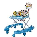 Song Bebé Niños Pequeños Andador Multifunción Anti-vuelco Anti-tipo Pierna 6/7-18 Meses Empuje Masculino Y Femenino (Color : Light Blue)