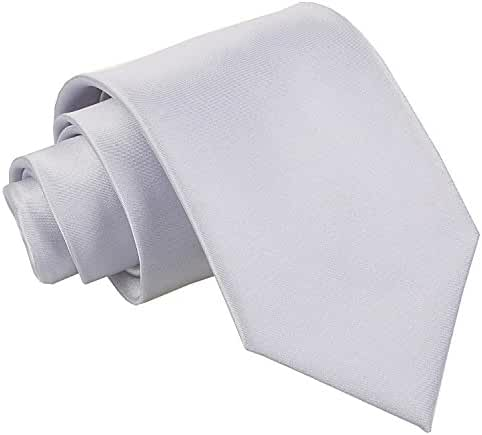 Premium Satin Plain Solid Men's Wedding Classic Standard 9cm Extra Long Tie – Various Colours