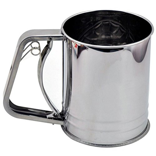 Stainless Steel Pressure Baking Icing Flour Sugar Sifter Shaker by BephaMart