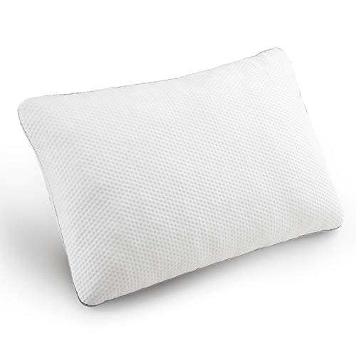 Bedsure Adjustable Shredded Memory Foam Pillow Queen Size - Bed Pillows for Sleeping, Back, Side or Stomach Sleeper - Washable Cover from Bamboo-Derived Fibers - Certipur-Us Certified