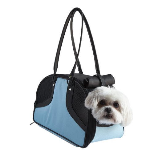 Petote Roxy Pet Carrier Bag, Turquoise, Small