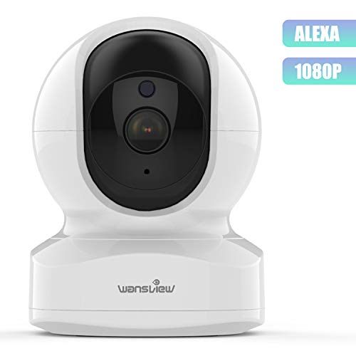 Home Camera, Wireless Security Camera 1080P HD Wansview, WiFi IP Camera for Pet/Baby/Nanny, Motion Detection, 2 Way Audio, Night Vision, Compatible with Alexa Echo Show, with SD Card Slot and Cloud