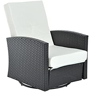 Outsunny Rattan Wicker Swivel Outdoor Recliner Lounge Chair - Espresso  sc 1 st  Amazon.com & Amazon.com : Outsunny Rattan Wicker Swivel Outdoor Recliner Lounge ... islam-shia.org