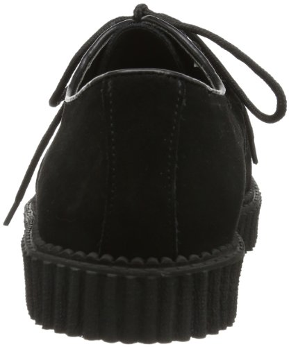 Pleaser Mens Creeper-602s / B Mocassino In Camoscio Nero