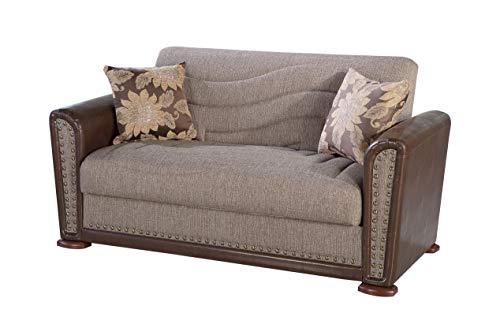 ISTIKBAL Multifunctional Furniture Living Room Love Seat Redeyef Brown ALFA Collection