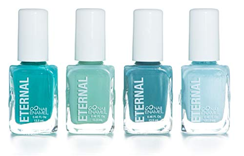 Eternal 4 Collection - 4 Pastel Nail Polish Set: Long Lasting, Quick Dry, Shiny Finish (Mindfulness)