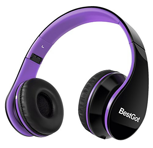 Headphones over ear for girls/kids/adult with Microphone Volume Control for iPhone,iPad,iPod,Android Smartphones,PC,Laptop,Mac,Tablet,Headphone Headset for Music Gaming (Purple)