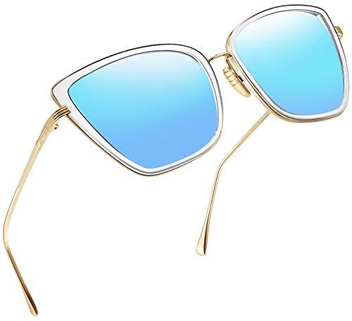 Joopin Fashion Cat Eye Sunglasses Women Retro Transparent Frame Brand Sun Glasses ()