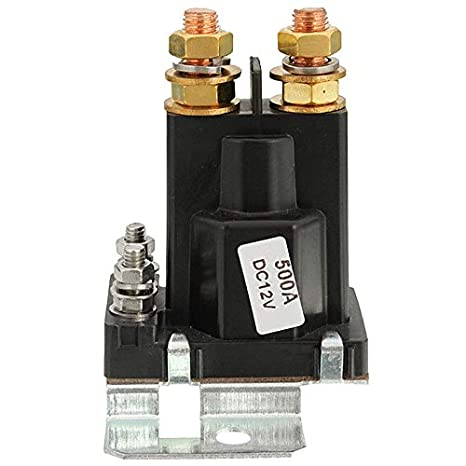4 Pin Black Over 500A AMP 12V DC Relay On//Off Car Auto Power Switch Plastic