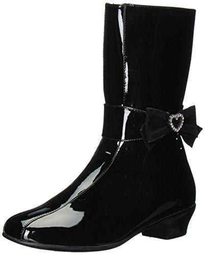 Rachel Shoes Girls' Juliet Fashion Boot, Black Patent, 1 M US Little Kid