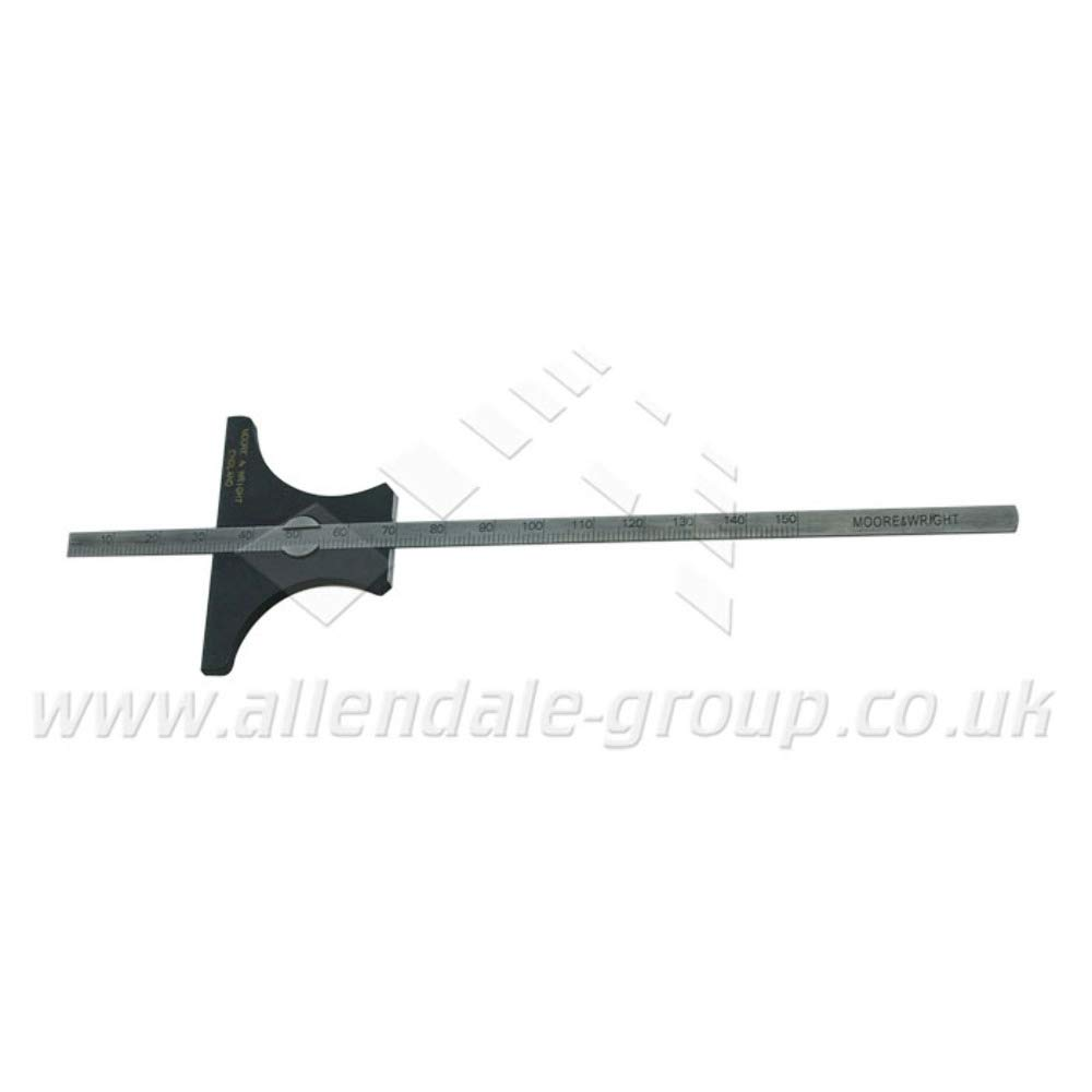 150mm (0-6inch) Moore and Wright Reversible Base Depth Gauge