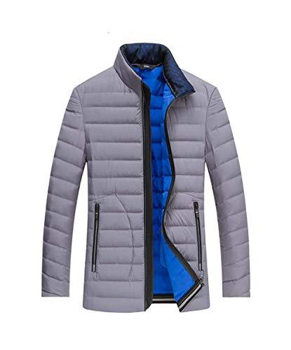 inverno Unita Uomo Capispalla Grigio Tinta Caldo Leggero Abbigliamento Piumino Da Cappotto Impermeabili Colletto Giacche Autunno Corto Adelina Antivento aS1wqtX
