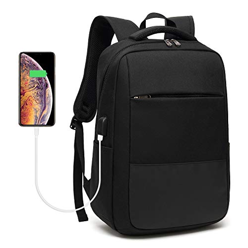 Laptop Backpack, Travel Computer Bag with USB Charging Port, Sunglass Bandage and Water Resistant,Fits Under 15.6 in Laptop Notebook, Slim Durable Laptop Bag for Business, College - Thinkpad Backpack Lenovo