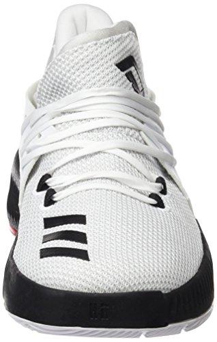 adidas D Lillard 3C–Sneaker deportivaspara Kinder, Weiß–�?Ftwbla/Negbas/Escarl) Weiß(Ftwbla/negbas/escarl)
