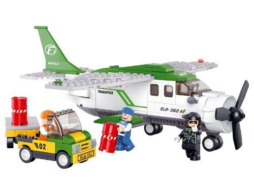 Sluban Mini Transport Plane Goods Delivery Aircraft Aviation Building Blocks, Multi Colour