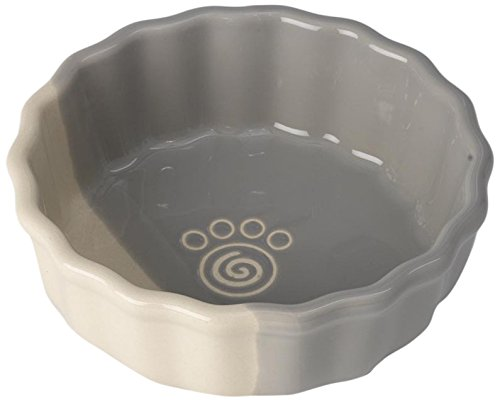 PetRageous 14035 Provence Paws Gray/Natural 2.5 Cups Bowl