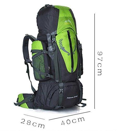 LIGHTING Grande capacità di alpinismo zaino / sport all'aria aperta sacchetto / borse / campeggio zaino 90L 80L-rosso