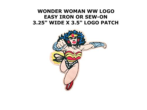 [Athena DC Wonder Woman WW Logo Easy Iron or Sew-on Embroidered Superhero Cartoon Comics Movie Applique Patch] (Imperial Guard Costume Warhammer 40k)
