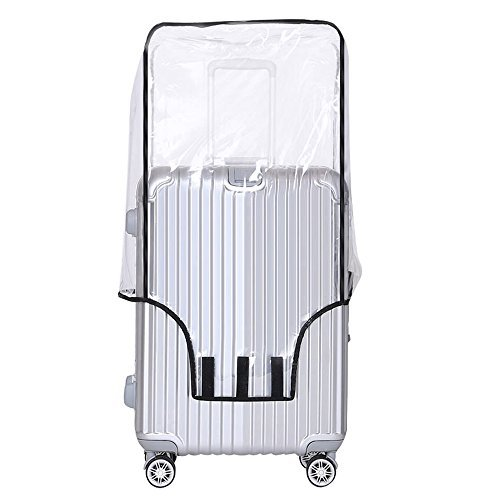 28' Wheeled Suitcase (Yotako Clear PVC Suitcase Cover Protectors 24 28 30 Inch Luggage Cover for Wheeled Suitcase (28''(19.7''L x 12.2''W x 28.3''H)))