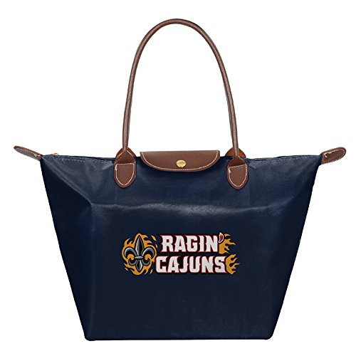 Louisiana Lafayette Ragin Cajuns Athletic Teams Waterproof Foldable Tote Bags Shopping Beach Shoulder Handbags Purse Tote Shoulder Bag - Shopping Indiana Lafayette