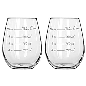 Caloric Cuvee – The Calorie Counting Wine Glass NOW IN STEMLESS (Set of 2) 41IUvc8NyoL